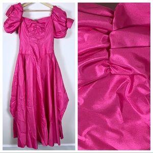 Vintage 80s Pink Prom Dress